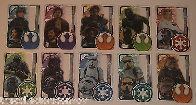 Topps Star Wars Rogue One Trading card = PLASTIC card SET (10 cards #193-#203)