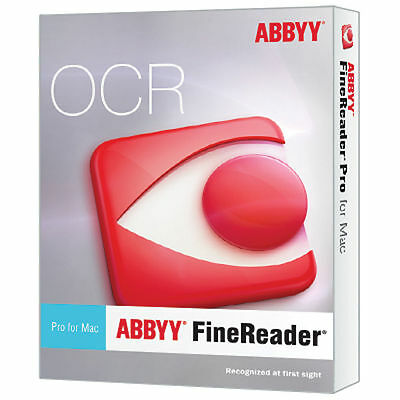 ABBYY FineReader Pro. 12 Convert Scanned Paper Doc,PDF,Photos to Editable {MAC}