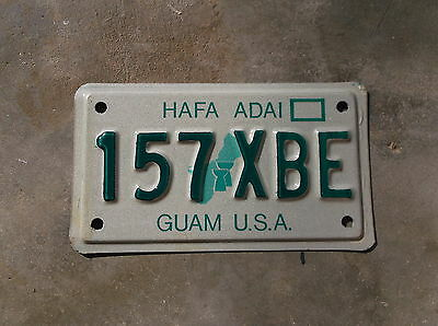 Guam U.S.A. motorcycle License Plate  #  157 XBE