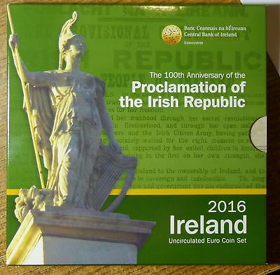 Ireland Official  Euro Coin Set 2016.   100Th Anniversary Of Easter Rising 1916.