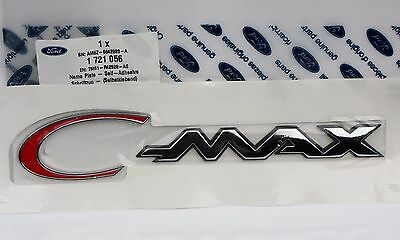 Ford C-Max (2007+) Red/chrome Effect Rear Tailgate Emblem (1721056)