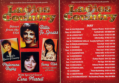 2 X Ladies Of Country Tour Flyers - Billie Jo Spears Lena Martell  Janey Kirk