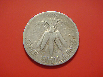 Malawi 1 Shilling, 1964, Bundled Corncobs