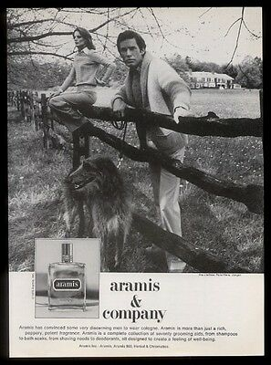 1976 Scottish Deerhound photo Aramis cologne vintage print ad
