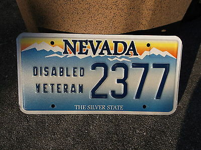 Nevada Disabled Veteran  License Plate  #  2377
