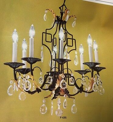 Stunning New Old Stock 1960 Mid Century With Modern Flair Large Chandelier