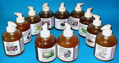 Castile Liquid soap From Olive Coconut Neem oils, Thick Gentle Base Consistency