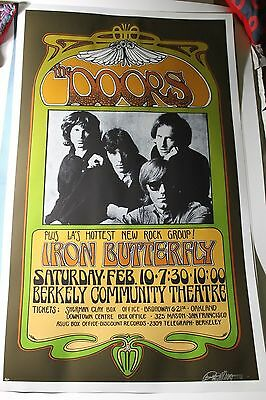 The DOORS 1967 Iron Butterfly Berkeley Theatre 2nd print Poster by BOB MASSE