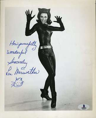 Lee Meriwether Catwoman Bas Beckett Authentic Coa Signed 8X10 Photo Autograph