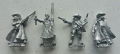 Preacher & 3 Cowboys Tombstone Legends of the old west 32mm Black Scorpion OOP