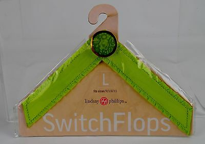 Lindsay Phillips Tracey Large Switchflops Green Floral Straps NIP
