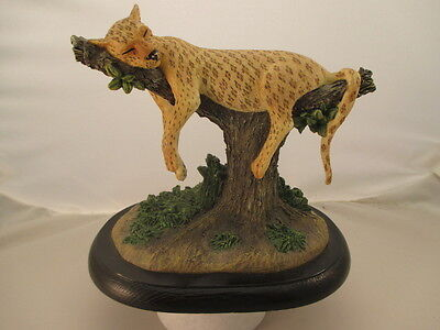 Leopard Hand painted 2001 National Geographic figurine