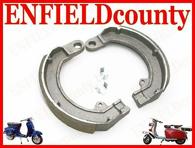 New Vespa Complete Front Brake Shoes With Fixing Clips Rally Sprint Gs @cad