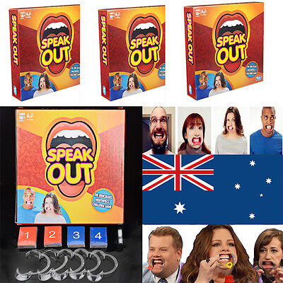 Speak Out Board Game Mouthguard Challenge Game AU STOCK