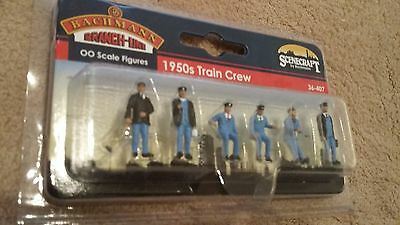 Bachmann Branch Line OO Scale Figures 36-407 1950's Train Crew BNIB
