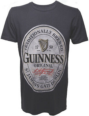Guinness T-Shirt Größe M Original Logo 1759 Traditionally Brewed Beer  NEU