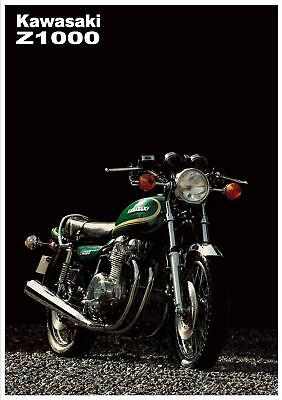 KAWASAKI Poster KZ1000 Z1000 1977 1978 1979 Suitable to Frame