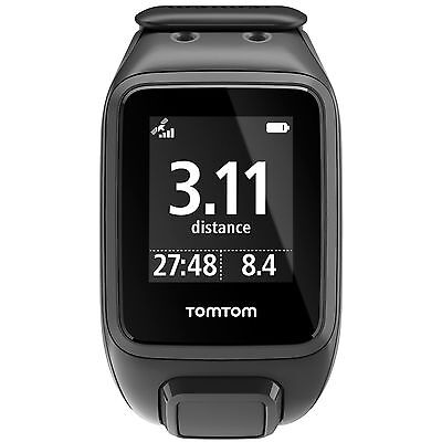 TomTom Runner 2 Cardio Music Heart Rate Monitor Multisport GPS Watch - Large