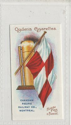 #25 Canadian Pacific Rai - Flags & Funnels Of Leading Steamship Lines Repro Card