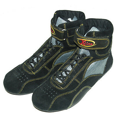 X-Line Childrens Size 13 Euro 32 Black/Kevlar Kart Racing Boots Clearance Stock
