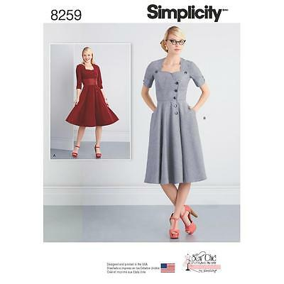 Simplicity Sewing Pattern Misses' Sew Chic Dress Size 8 - 26 8259