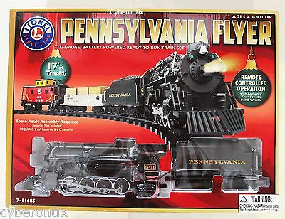 BIG Lionel Christmas Train Set Pennsylvania Flyer COMPLETE Run Track Around Tree