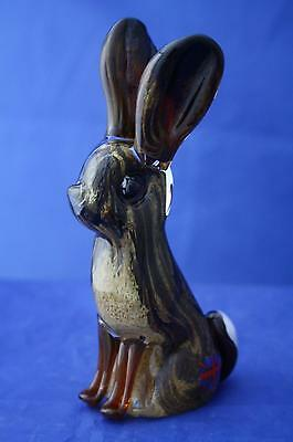 Langham Glass Hand-Made Crystal Hare Figure - New / Boxed