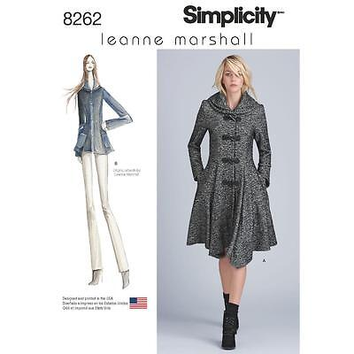 Simplicity Sewing Pattern Misses Peplum Lined Coat Or Jacket 4-22 8262