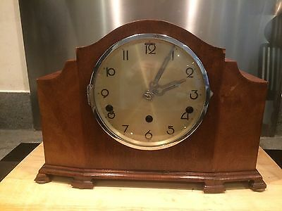 Vintage Art Deco Foreign Westminster Chime Mantel Clock