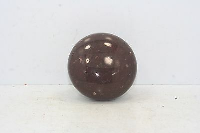 "Vintage Dark Brown Ceramic / Porcelain Door Knob - 2 1/4"" Diameter"