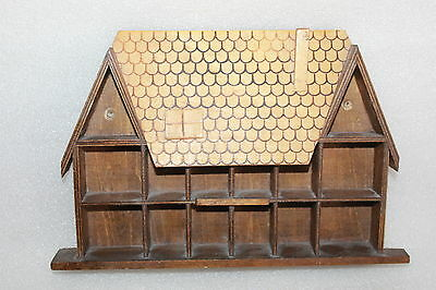 Vintage Wooden Thimble House - Wall Hanging (#2)