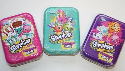 Shopkins Trading Card Game - Collector's Tin + 25 Cards Pink Green Purple - NEW