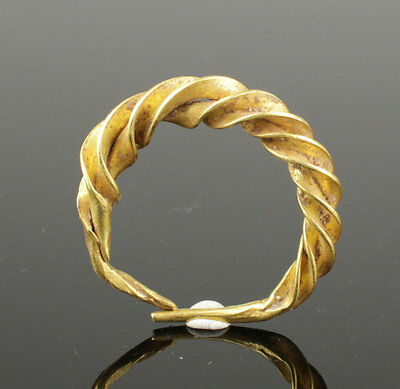 Intricate 10Th Century Viking Twisted Gold Ring - Highly Wearable!