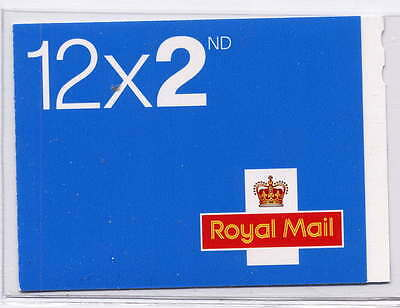 GB 2016 12 x 2nd CLASS CYLINDER W6 BOOKLET ME6 CODE M16L SECURITY BACKING PAPER