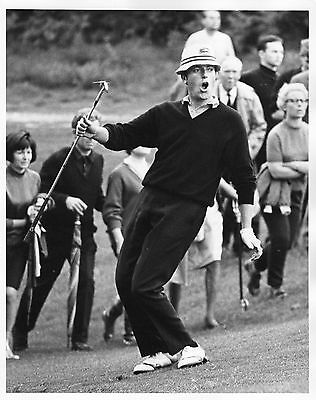 Vintage Original Golf Photograph  Malcolm Gregson In Action Daks 1968
