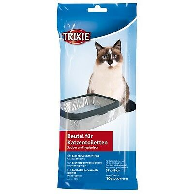 New 1 x Trixie 10 Bags Cat Litter Trays 37 × 48 cm Litter Tray Liners 4043