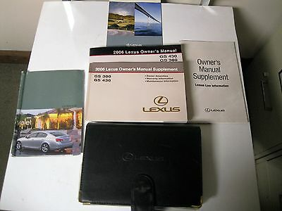 Owners Manual 2006 Lexus GS430 GS300
