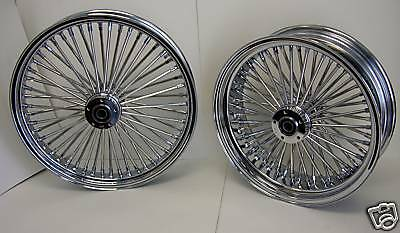DNA CHROME MAMMOTH 52 FAT SPOKE WHEELS HARLEY 21x3.0 & 16x3.5 SOFTAIL TOURING
