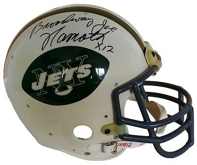 Joe Namath Signed New York Jets Full Size Proline Football Helmet Broadway JSA
