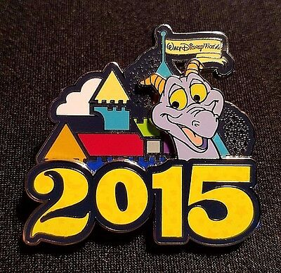 Rare 2015 Walt Disney World Dated Logo Series Figment Pin