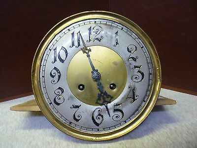 Original 1930s Wall Clock Spring Driven Striking Movement+Dial(5)