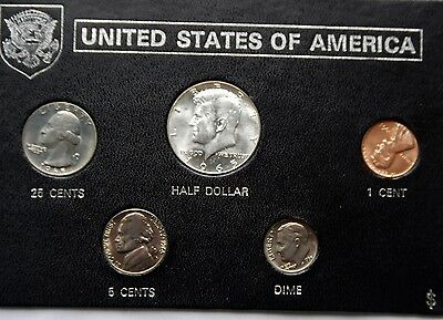 USA UNCIRCULATED Set 1965 Kennedy Half to Cent