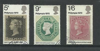 GB 1970  Phylimpia Stamp Exhibition   fine used set