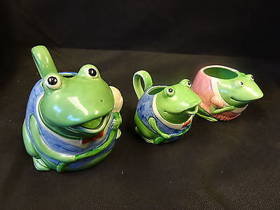 Mary Ann Baker Hand Painted Frogs