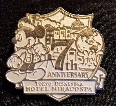 Retired 2008 Tokyo Disney Sea Hotel Miracosta 7Th Anniversary Guest Gift Pin