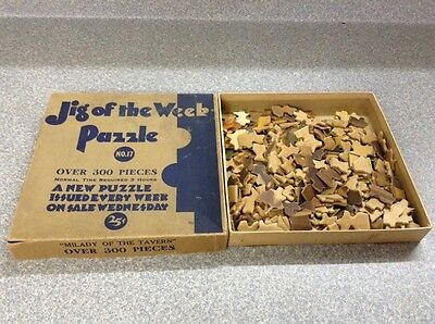 Free Shipping!! Vintage Jigsaw Puzzle- Jig Of The Week
