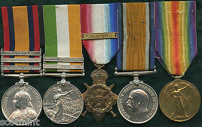 Boer War & WW1 Mons Group of Medals to Pte Frank Horrocks Rifle Brigade