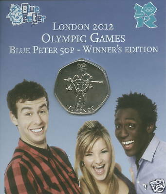 2009 50p London 2012 Olympic Games Blue Peter Coin (BU) Sealed Mint Gift Pack