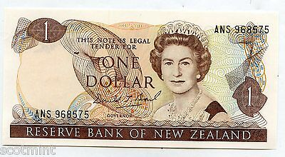New Zealand Uncirculated One Dollar $1 Banknote 1989