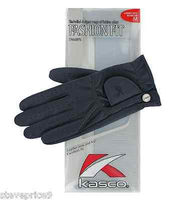 Kasco Ladies Navy Blue Fashion Fit Golf Glove. Small.